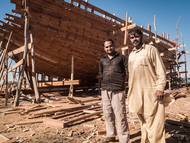 Bootsbauer auf Queschm