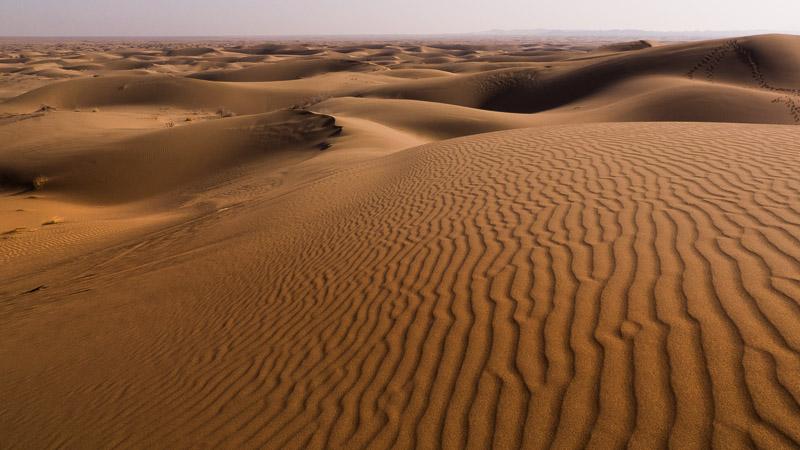 Dünen in Kaviar-Wüste bei Kashan
