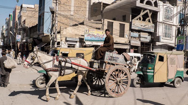 Straßenverkehr in Quetta